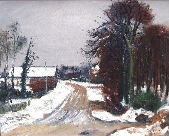 Gaston Sebire - Winters landschap