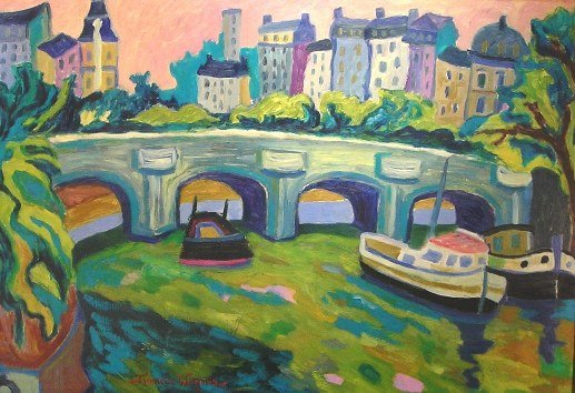 France Wagner - Pont Neuf vu du Pont des Arts