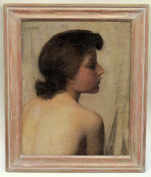 Nicolaas van der Waay - Naaktstudie en profil