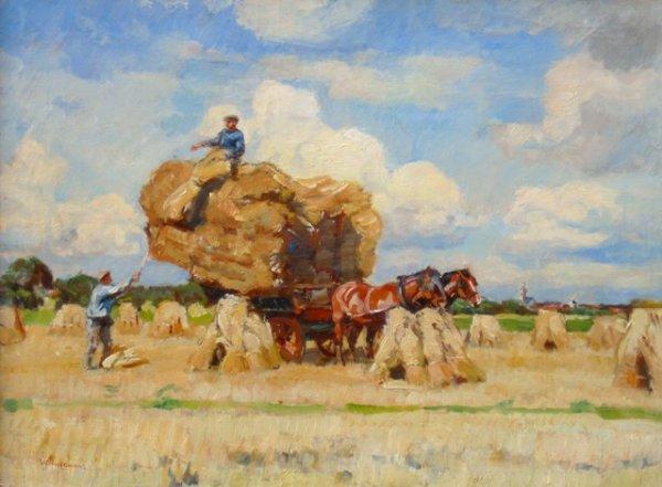 Waalko Jans Dingemans - Koren laden te Burch (Haamstede)