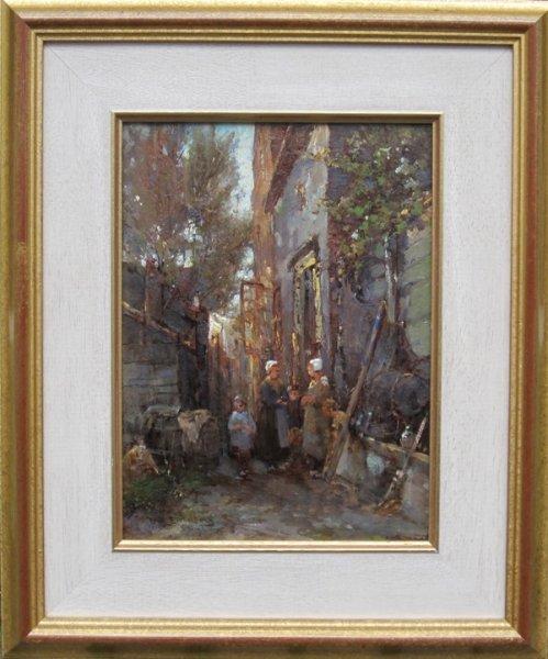 W H Eickelberg - Levendig straattafereel