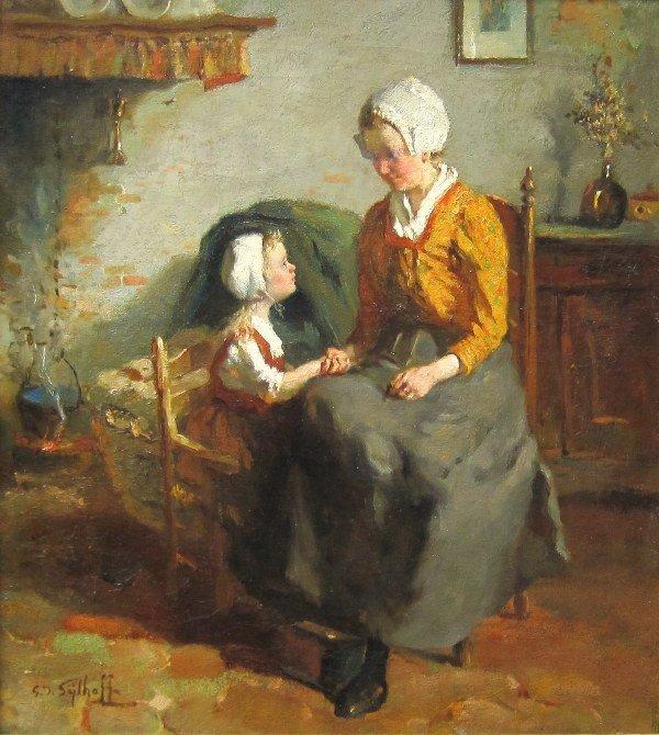 G J Sijthoff - ' Moeder en dochter'
