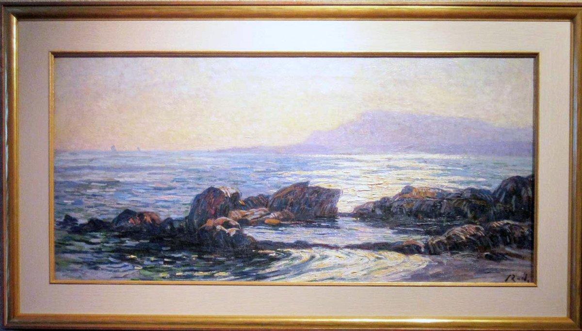 Jacques Zon - zonsondergang over het water