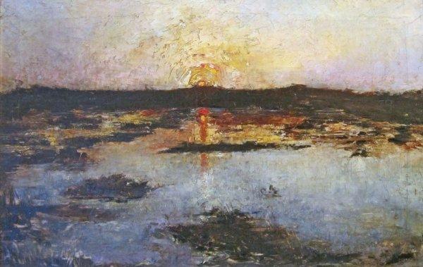 Emile Vloors - Kleurige Zonsondergang