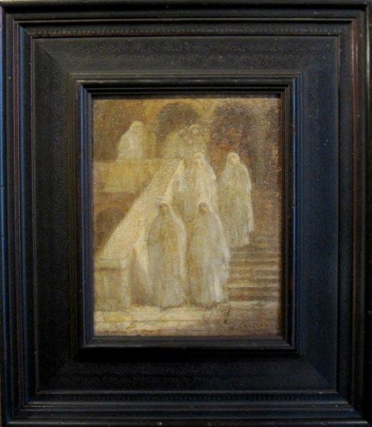 Jan  (roepnaam Ko) Cossaar - Nonnen bij het verlaten van de kerk