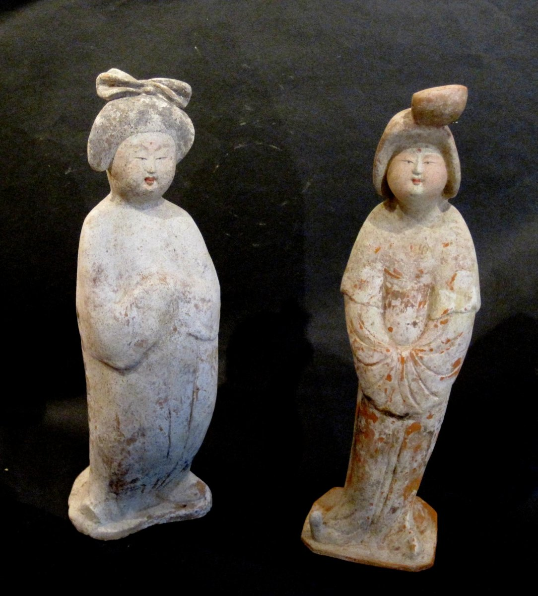 Chinese Archeologie - Twee Tang Dynastie Fat Ladies incl. TL test