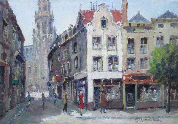 H.C. (Hendrik Cornelis) Kranenburg - Stadsgezicht Amsterdam