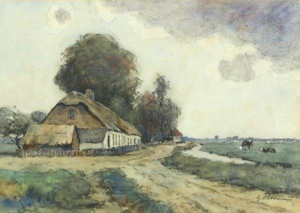 Gerard Altmann - Hollands landschap