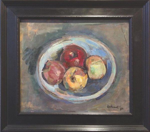 Onduidelijk en/of ongesigneerd - Stilleven met appels