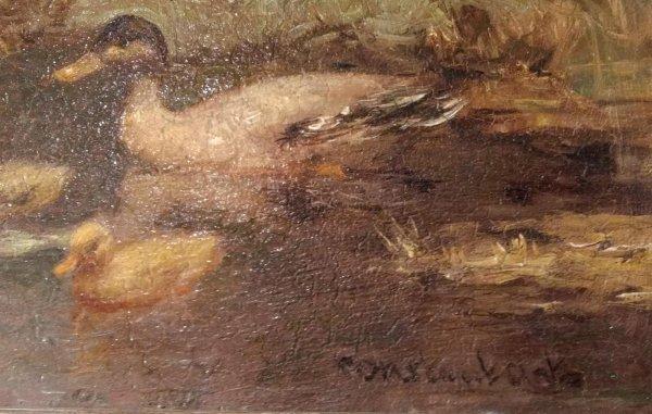 Constant David Artz - Eenden aan de waterkant
