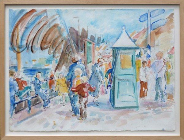 Freek van den Berg - Feestelijke dag aan de haven van Elburg