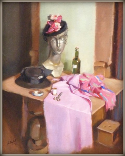 Jacobus Bijtel - Het atelier van de hoedenmaakster