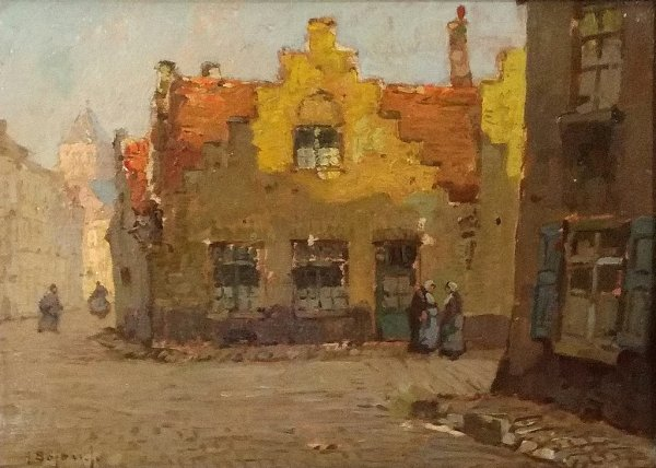 Herman Bogman jr - Stadsgezicht Brugge