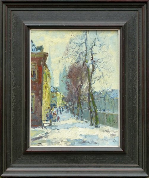 Herman Bogman jr - Winter in Delft