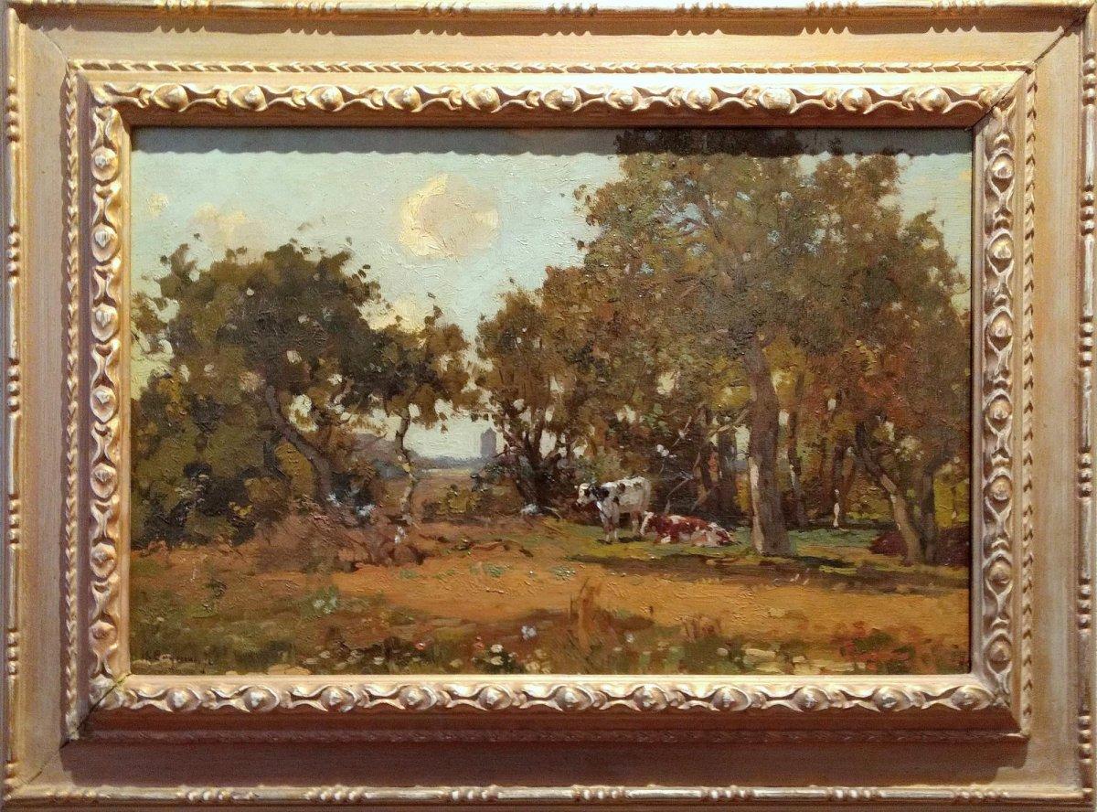 Herman Bogman jr - Koeien onder de bomen