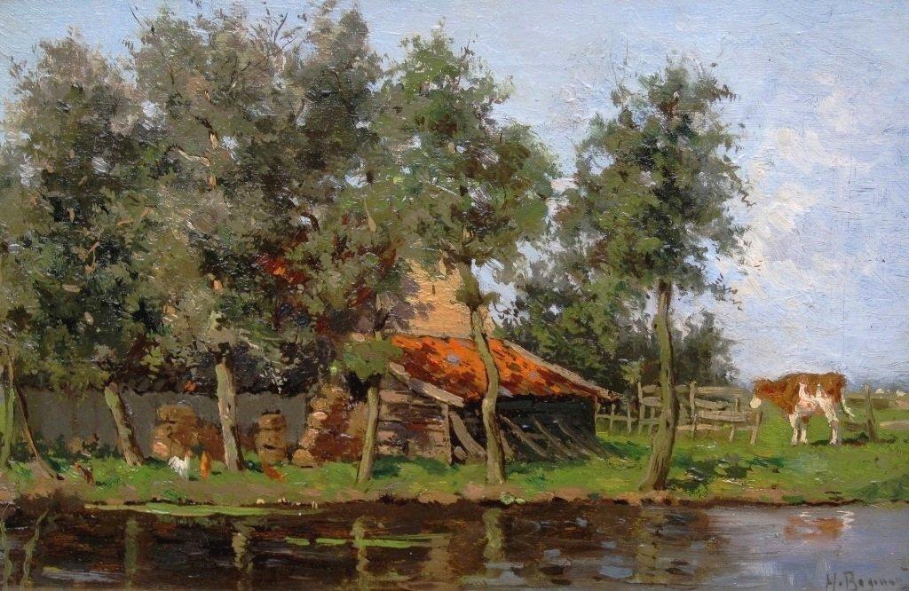 Herman Bogman jr - Boerderij op zonnige zomerdag