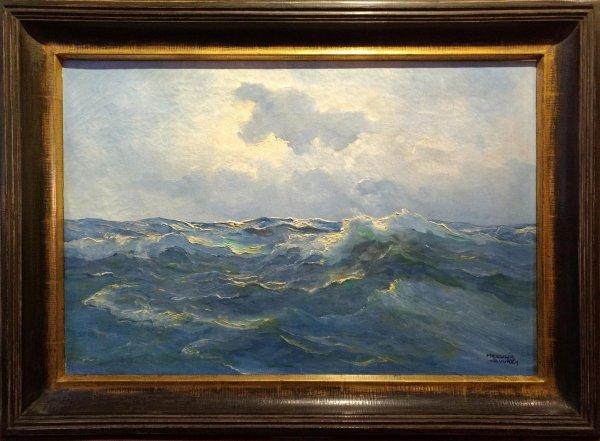 Meeuwis van Buuren - Zeegezicht met woelig water