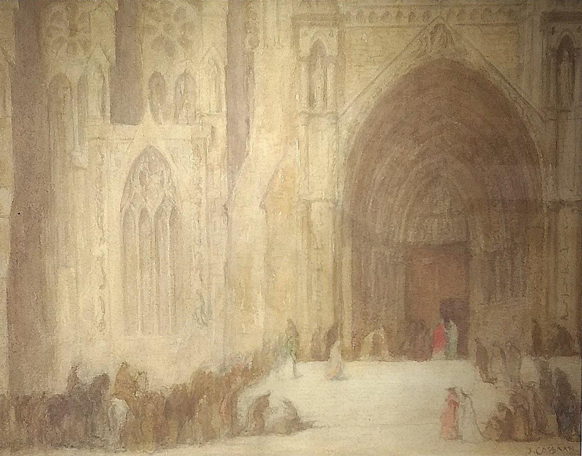 Jan  (roepnaam Ko) Cossaar - Levendig kerkplein