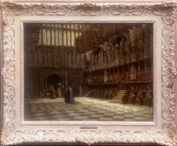 Jan  (roepnaam Ko) Cossaar - Chapel of Henry VII in Westminster Abbey te Londen