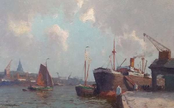 Henk Dekker - Havengezicht Rotterdam