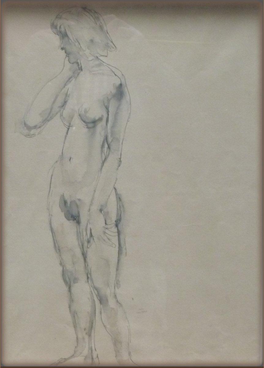 Johan Dijkstra - Dubbel naakt aquarel