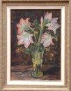 Glazen vaas met lelies