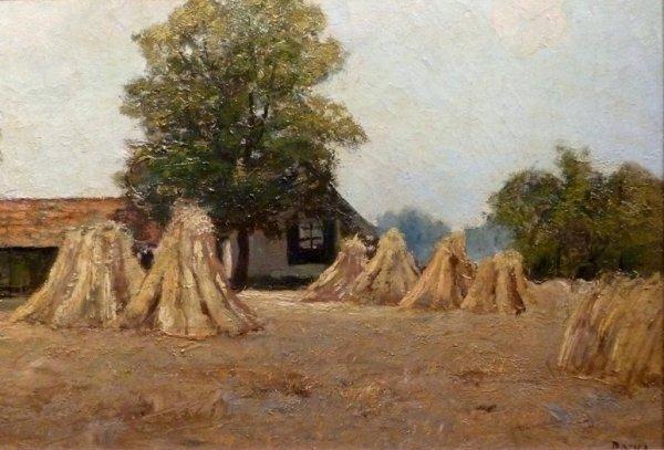 Jacob (J.J.) Doeser - Boerderij met korenschoven