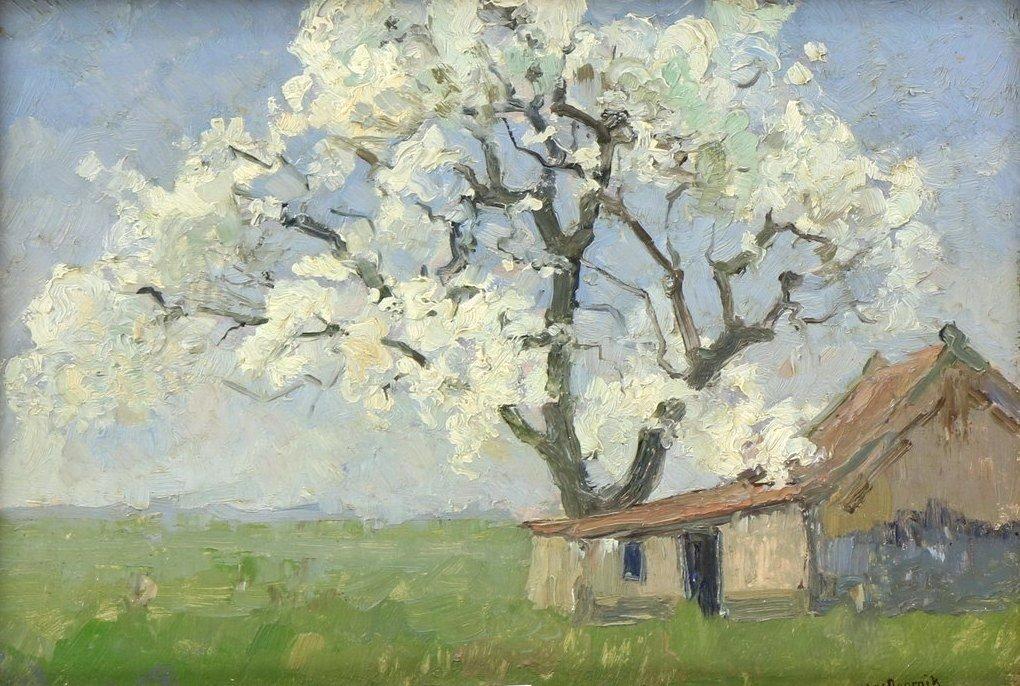 Heertje van Doornik - Appelboom in volle bloei