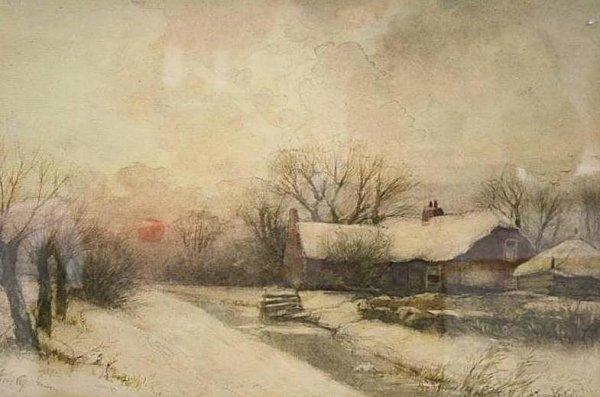 A.J. van Driesten - Winter bij Nieuwkoop-verkocht-