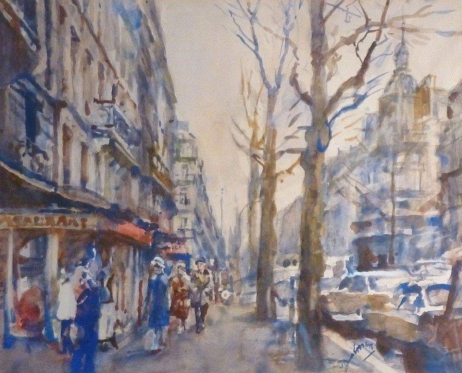 E. B. von Dülmen Krumpelmann - Stadsgezicht van Parijs