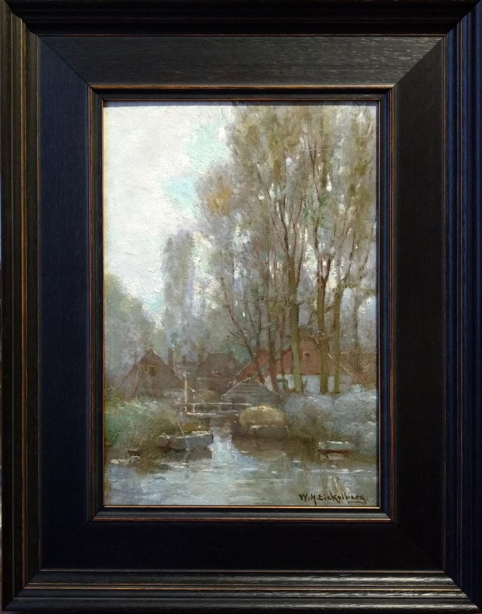 W H Eickelberg - Boerderij aan het water