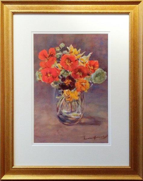 Thamine Groeneveld (Tadama) - 'Bloemstilleven in glazen vaas