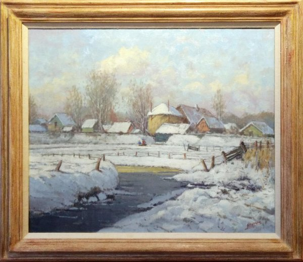 Willem Heytman - Hollands winterlandschap
