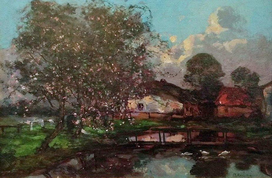 Anna Kerling - Voorjaarsavond om de boerderij
