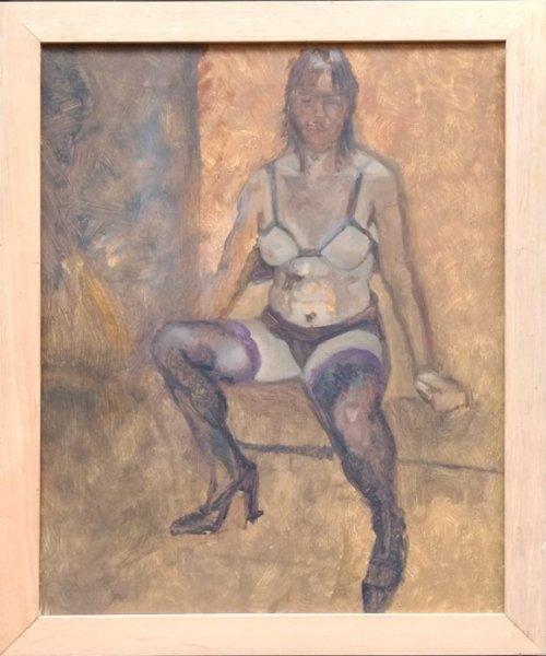 Ab Knupker - Vrouw in lingerie