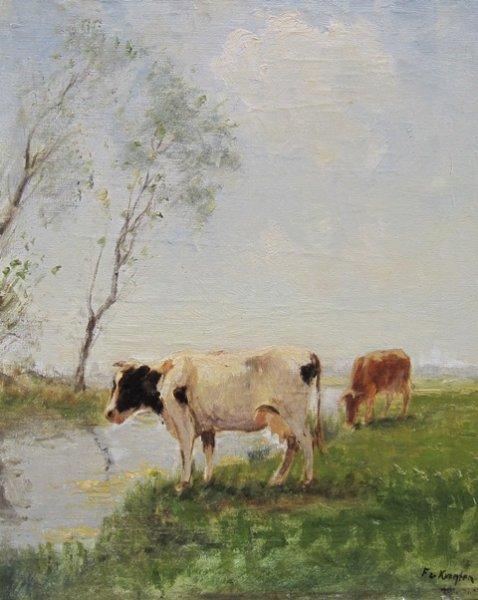 Fedor van Kregten - Koeien an het water