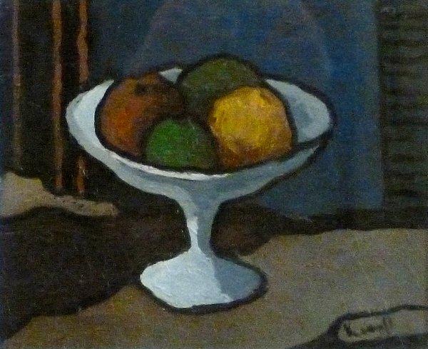 Joop Kropff - Stilleven met fruitschaal