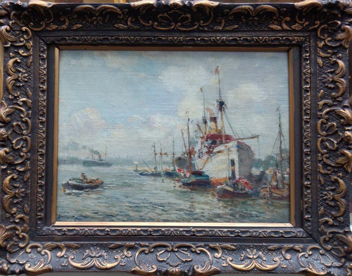 Evert Moll - Vroeg  havengezichtje