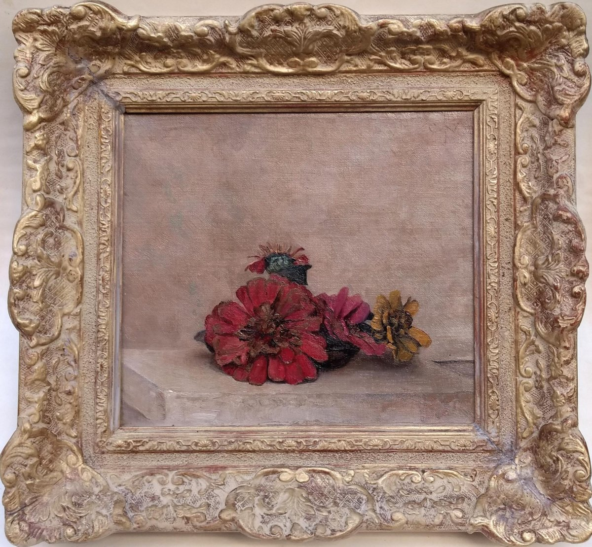 Coenraad Nachenius - Stilleven met liggende bloemen