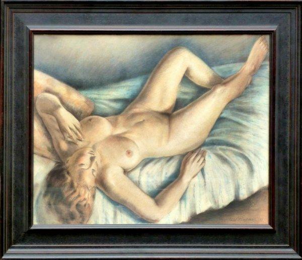 Toon  (Antonie Bernardus) Pluijmers - Liggend naakt