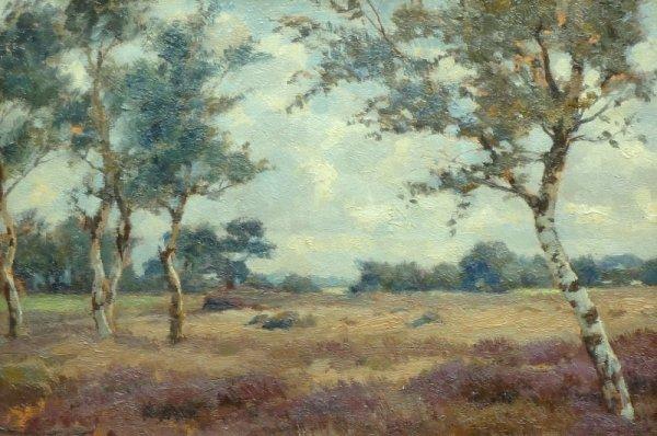 Louis Albert Roessingh - Drents heidelandschap met berken