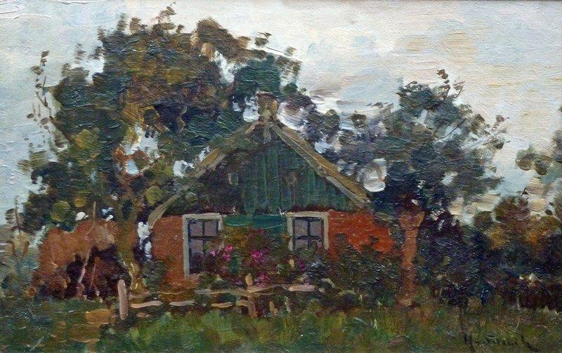 Hugo van Schaik - Boerenhuisje - verkocht
