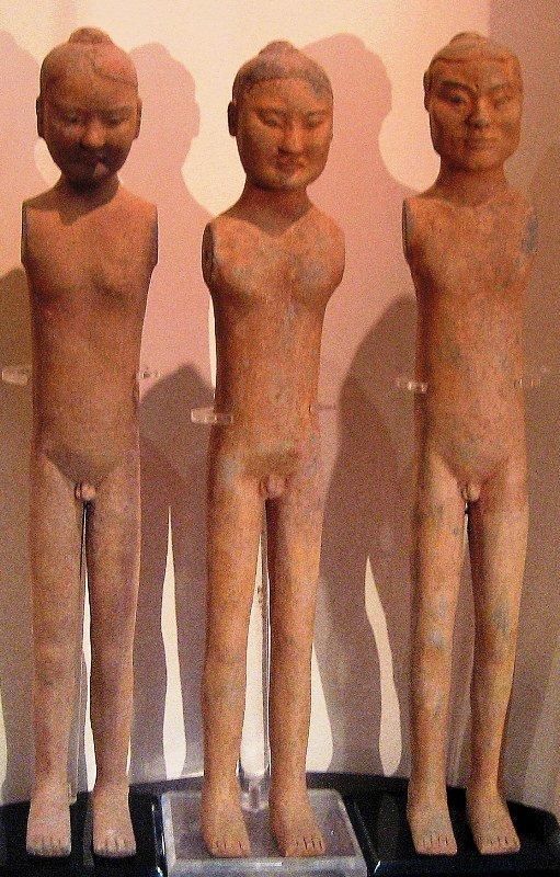 Chinese Archeologie - 3 Han Dynastie Stickmen