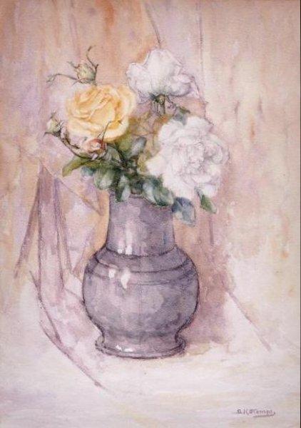 Barend Hendrik Stomps - Stilleven met rozen