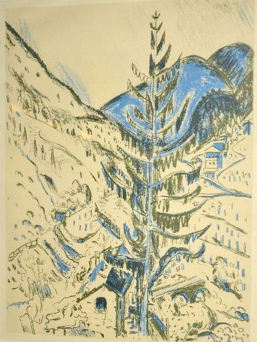 Jan Wiegers - Berglandschap